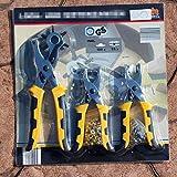 3pezzi 3in1di cintura in pelle di perforazione + occhielli pinza + bottoni Setter Tool kit