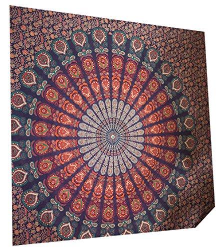 Wandteppich Wandbehang Indisch Wandtuch Mandala Hippie Teppich Tagesdecke Mandala Tuch Wand Strandtuch Indische Tücher Indisches Wandbehänge Wandtücher Tagesdecken Indien Wandteppiche 200CM X 150CM