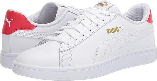 Puma White/High Risk Red/Puma Team Gold
