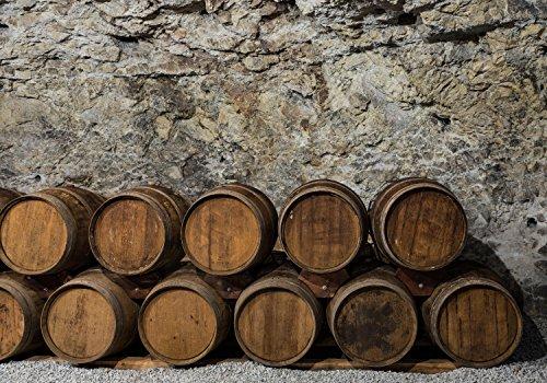 wandmotiv24 Fototapete Ein alter Weinkeller L 300 x 210 cm - 6 Teile Fototapeten, Wandbild, Motivtapeten, Vlies-Tapeten Fass, Wein, Wand M0821