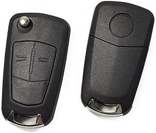 Ndier–Carcasa de Llave, Funda con clésà Dos botón Remoto Flip Plegable Caso Fob Llave de Coche para Vauxhall Astra Opel Corsa