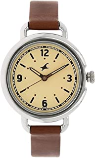 Fastrack Casual Watch for Women, Leather - 6123SL03