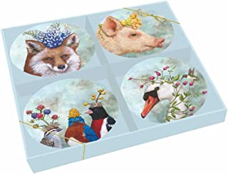 Paperproducts Design Beatrice/Friends Gift Boxed New Bone China Plates (Set of 4), 7