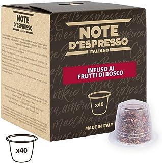 Note D'Espresso - Cápsulas de tisana de frutas del bosque