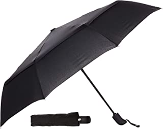 Sun&Rain Car Umbrella Large Windproof Travel UV Umbrella Women Men - Auto Open Close (black)