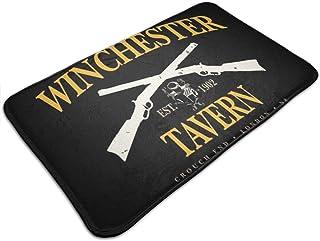 HUTTGIGH Winchester - Alfombrilla antideslizante para puerta de entrada de la taberna de Winchester, alfombra de baño de 1...