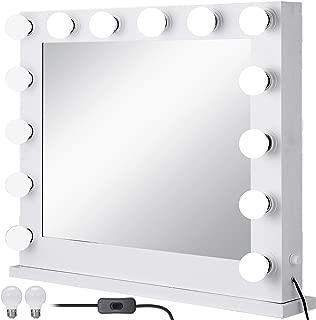 Bisujerro Espejo de Maquillaje con Luz 80x 65cm Espejo de