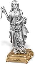 Woodington's Saint Agatha 4.5 Inch Pewter Statue