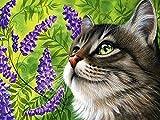 Adultos 1000 piezas rompecabezas gato animal hecho a mano flor familia juguete educativo interactivo rompecabezas de bloques de construcción A.12 1000 unids