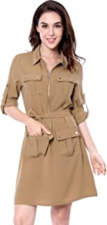 safari dress khaki