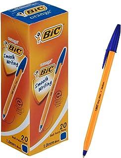 ビック 油性ボールペン オレンジ 1.0 青 20本 E-ORMJ20EGBLU