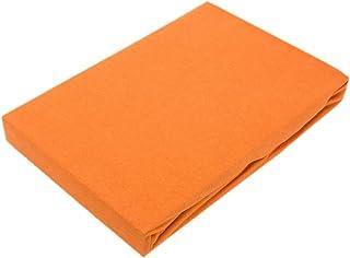 Drap-housse en jersey de qualité supérieure avec élastique, Coton, terracotta, 90 - 100 x 200 cm