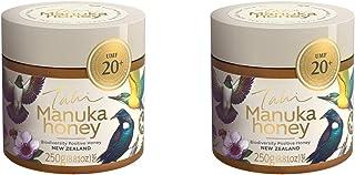 UMF 20+ New Zealand Manuka Honey by the eco-friendly bee-friendly people at Tahi, 2PK