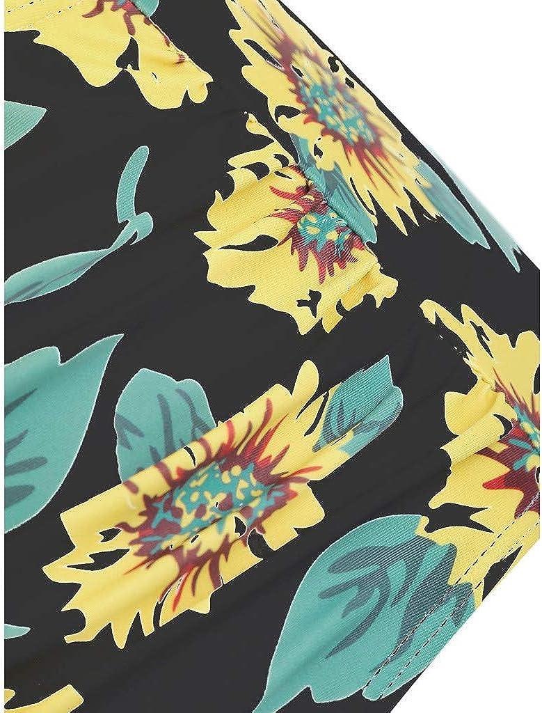 TWGONE Sunflower Bikini for Women High Waisted Two Pieces Bathing Suits Top Ruffled Beachwear Set
