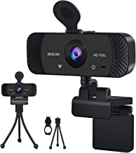 Webcam HD 1080p Web Camera, USB PC Computer Webcam, with Stereo Microphone and Privacy Cover, Desktop Laptop HD Webcam, 36...