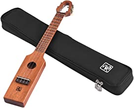 ammoon 23 in/inch Uke Acoustic Concert Ukulele Mahogany Wood Portable Compact Size With Carved Musical Scale & Chord Chart Carry Bag