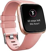 Tobfit 8 Pack Sport Bands Compatible with Fitbit Versa/Versa 2/Versa Lite/SE, Soft TPU Wristbands Accessories for Women Men
