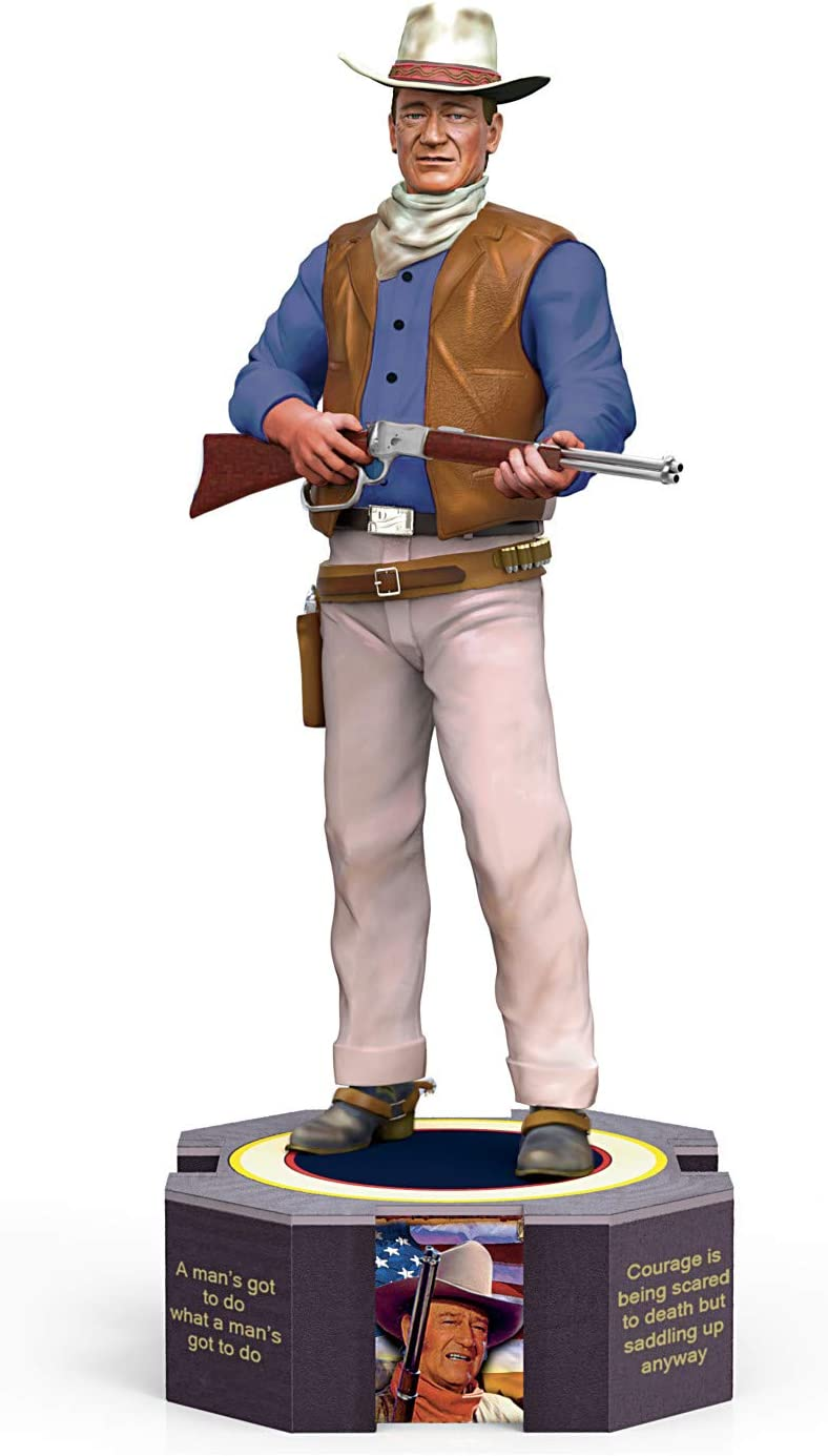 The Ranking TOP19 Hamilton Collection John Wayne with Quotes a Famous Figurine Max 62% OFF