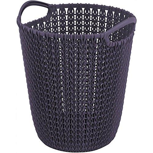 Sale!! Curver Knit Paper Bin, Purple, 23.1 x 23.9 x 27.2 cm