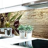 Küchenrückwand Oliven Premium Hart-PVC 0,4 mm selbstklebend 60x51cm