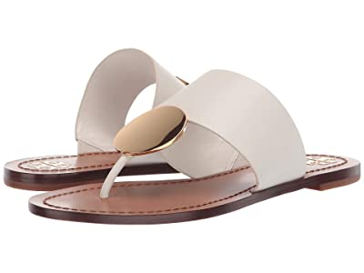 Tory Burch Patos Disk Sandal (Perfect Ivory/Gold) Women