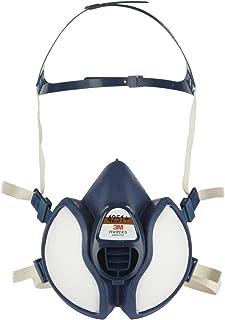 3M Sproeimasker, adembeschermingsmasker met koolstoffilter voor gas en dampen, oplosmiddelen en lakwerk, fijn stof, anti-g...