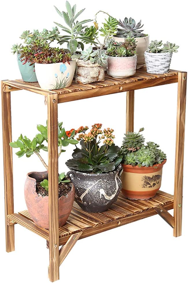Chairs FL Clearance SALE Limited time LLMHJ Flower Stand Plant Display Luxury Wooden 2-Layer
