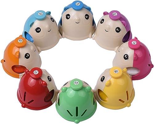 Kalaok 8 teile satz Bunte Nette Cartoon Deskbell Maus-form Hand Glocken Handbell Hand Percussion Glocken Kit Musical Spielzeug für Kinder Kinder für Musical Lernen Lehre
