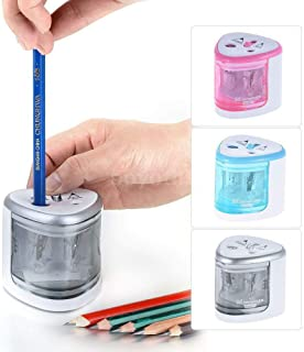 Electric Pencil Sharpener Automatic Pencil Sharpener Dual Hole for 2B and Colored Pencil Battery Operated Safety for Schoo...