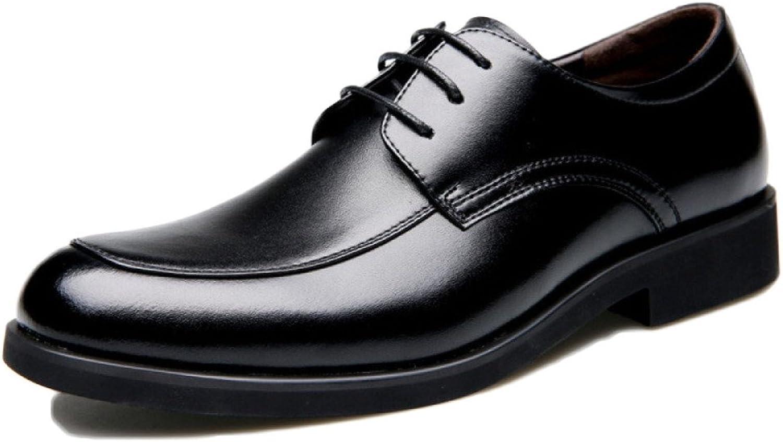 Nihiug Schwarze Leder Schuhe Jungen Slip auf Abend Party Lace-up Classic Business Schuhe Kleider Herrenschuhe Aus Echtem Leder Soft Base