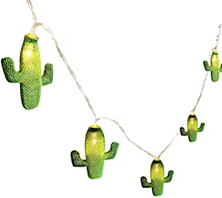 Twinkle Star 20 LED 10.3 FT Cactus String Lights Battery Operated Metal String Lights Indoor Wedding Party Christmas Harvest Festival Wall Decoration
