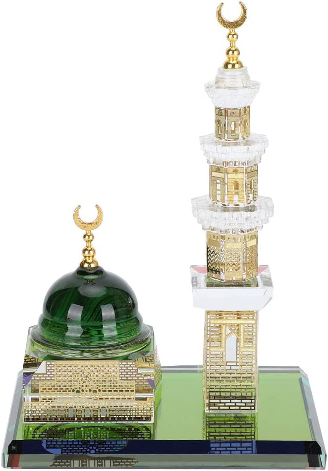 Soapow Muslim Kaaba Dome 1 Set Rock Sales results No. Spring new work Orname Quartz Mosque Crystal
