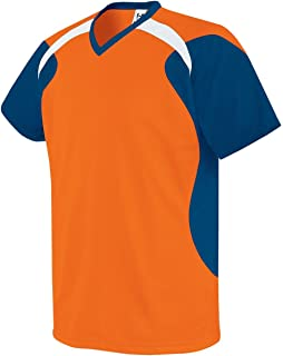 High Five Youth Tempest Soccer Jersey L Orange/Navy/White