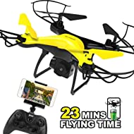 Dwi Dowellin Drone with 720P HD Camera Live Video 23mins Long Flight Time WiFi FPV RC Quadcopter...
