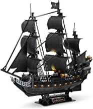 CubicFun 3D Pirate Ship Puzzle for Adults Sailboat Vessel Model Kits with Led Lights,..