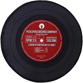 Disques en Vinyle Tapis Rond De Style Européen Vintage Tapis Rond Antidérapant pour Enfants Tapis Rond pour Bureau D'Étude...