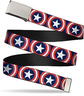 "Buckle-Down Web Belt Captain America 1.0"""