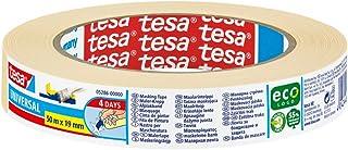 tesa Malerband UNIVERSAL - Vielseitiges Klebeband für Malerarbeiten ohne Lösungsmittel - Bis zu 4 Tage nach Gebrauch rückstandslos entfernbar - schmal, 50 m x 19 mm