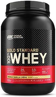 Optimum Nutrition Gold Standard 100% Whey Protein Powder, French Vanilla Creme, 2 Pound..