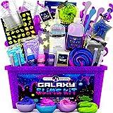 Original Stationery Galaxy Slime Kit mit Glow in The Dark Stars und Schleimpulver für Glitter Slime & Galactic Slime! DIY Galaxy Schleim Set Geschenke für Mädchen Kinder