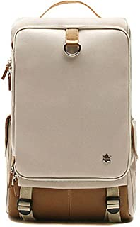 Exit Hard Canvas Backpack Laptop Computer Backpacks 7 Colors (Ivory)