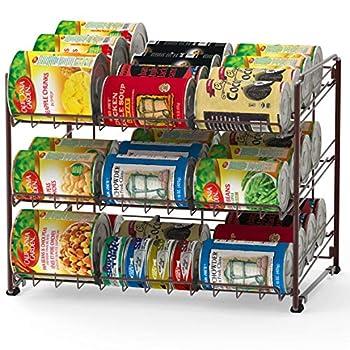 Simple Houseware Stackable Can Rack Organizer Bronze