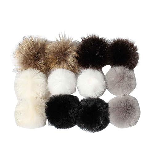 809bdf60951 Hunpta DIY12pcs Faux Fox Fur Fluffy Pompom Ball for Knitting Hat Hats (A)