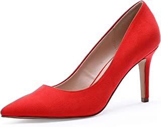 TIHOO Women's Classic Pointed Toe High Heel Dress Pumps Slip On Basic Shoes