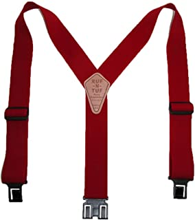 HENBRANDT White Men Ladies Heavy Duty Adjustable Suspended Elastic Wide Trouser Braces