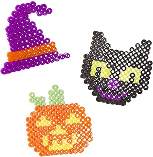 Foamies Halloween Melty Beads Arts and Crafts Kit - Holiday Home or Classroom Activity Supplies - Set of 6