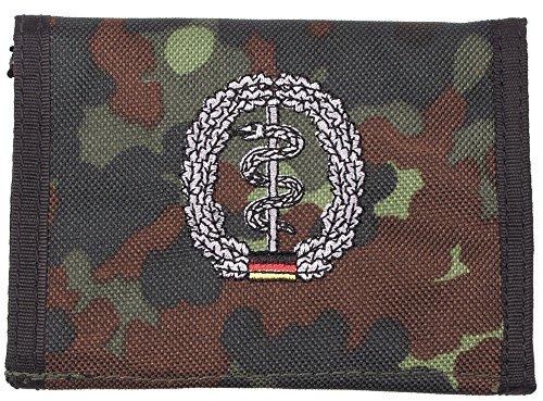 portefeuille, nylon, BW camo, w/ins., logo , Couleur:flecktarn/Sanitäter