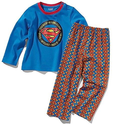 Superman Kleinkinder Jungen Schlafanzug, lang (Rot/Blau, Gr. 98/104)