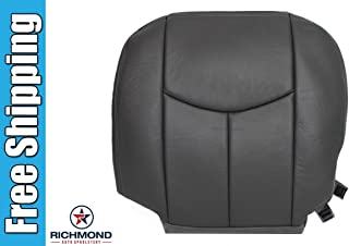 2006 Chevy Silverado 1500HD LT LS Driver Side Bottom Replacement Leather Seat Cover Dark Gray