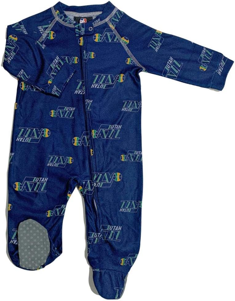 Outerstuff Infant Store Toddler Utah Jazz Zip Coverall Sleeper Up Attention brand